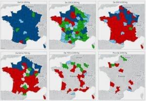 Cartographie de Plan de Transport par département